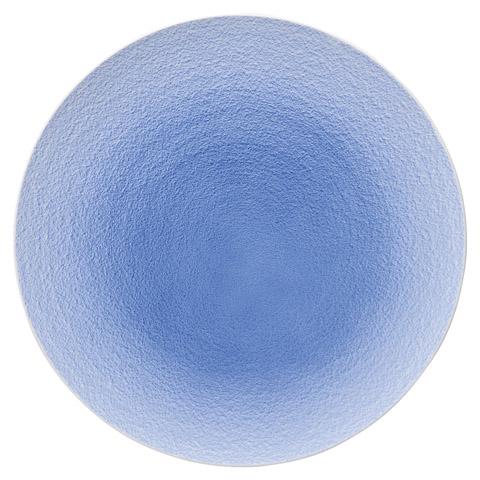 コバルト白吹 28㎝丸皿