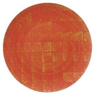金彩市松 28㎝丸皿